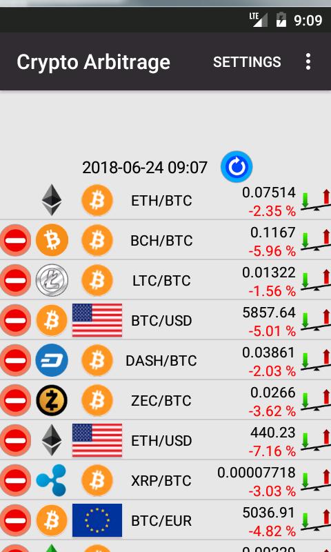 cryptocurrency arbitrage app