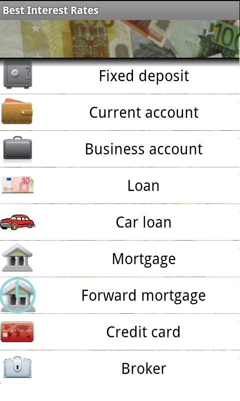 Android app Best Interest Rates